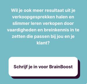 BrainBoost NeuroSales open Verkooptraining